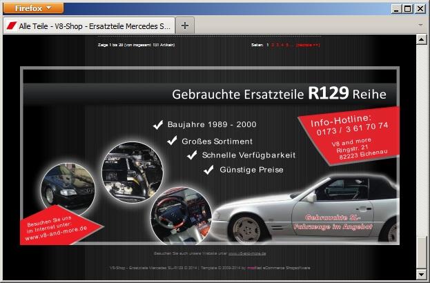 Online Shop für Mercedes SL-R129 gebrauchte Ersatzteile