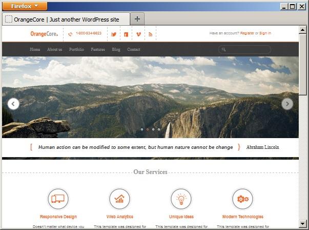 Reponsive Design - Desktop Version