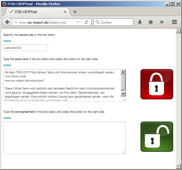Texte und Informationen online sicher verschlüsseln - Bild 1