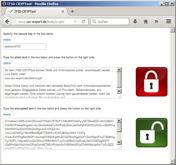Texte und Informationen online sicher verschlüsseln - Bild 2