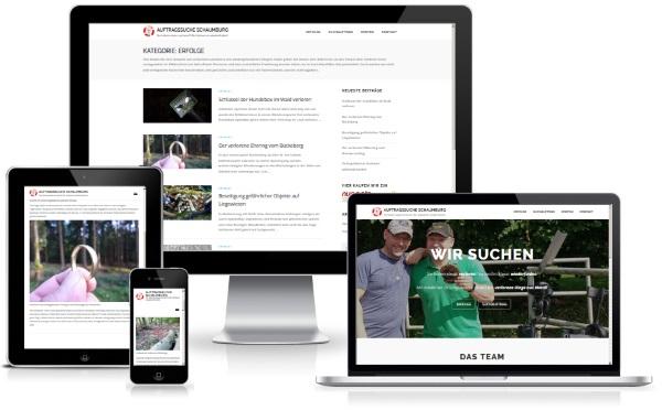 Website der Auftragssuche Schaumburg